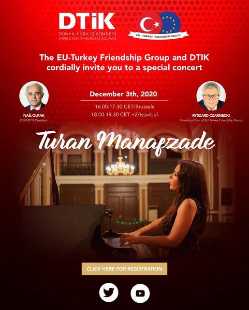 Turan Manafzade to give virtual concert