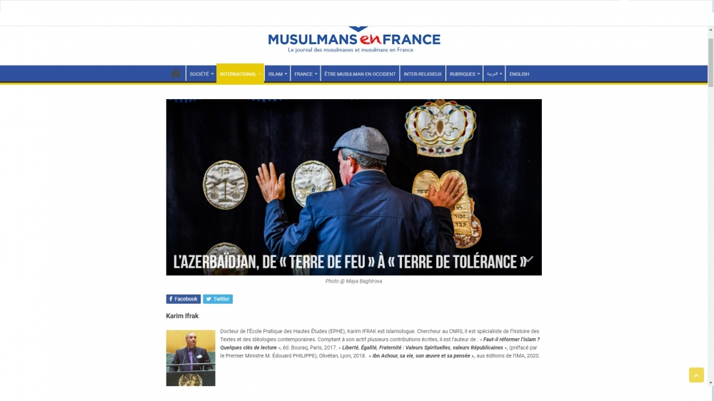 French portal highlights Azerbaijan's multiculturalism traditions